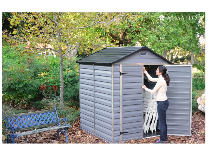 abri de jardin clevy en polycarbonate et aluminium almateon. Black Bedroom Furniture Sets. Home Design Ideas