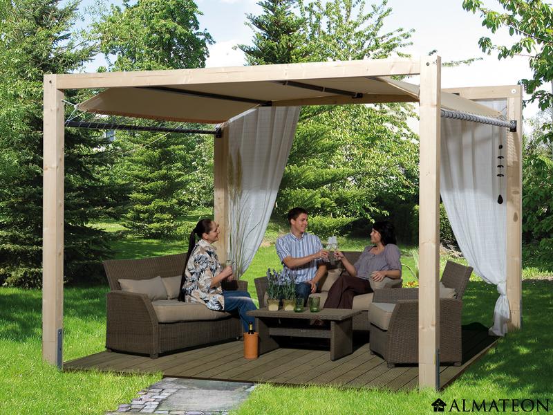 laissez vous s duire par la tonnelle en bois blog almateon. Black Bedroom Furniture Sets. Home Design Ideas