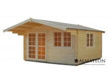 Abri en sapin 10,90 M2 de superficie utile, épaisseur 40 mm en bois de sapin brut