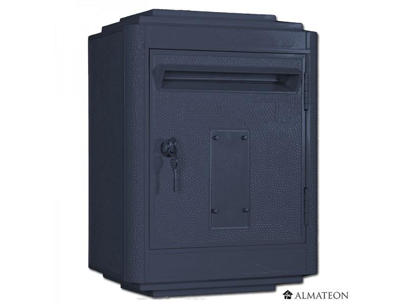 boites aux lettres officielle de la poste gris anthracite. Black Bedroom Furniture Sets. Home Design Ideas