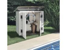 Vente flash -30€ spéciale piscine votre coffre résine bicolore,toit monobloc,capacité 1100 litres épaisseur 22 mm voir vidéo de