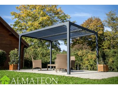 Pergola bioclimatique structure ALUMINIUM 10,80 m2 coloris gris anthracite