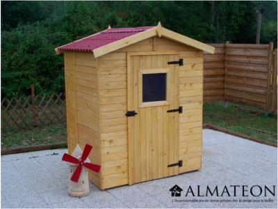 Vente flash printemps votre abri Panneau bois massif avec plancher de 2,61 m2