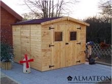 votre Abri Panneau bois massif avec plancher de 7,20 m2
