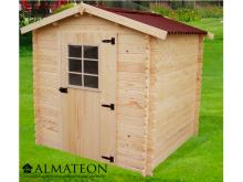 votre Abri Madriers bois massif d'épaisseur 20 mm de 4,08 m2 sans plancher