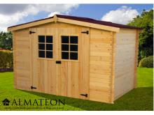 votre Abri Madriers bois massif d'épaisseur 20 mm de surface extérieure 9,42 m2