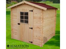 votre Abri Madriers bois massif d'épaisseur 28 mm et de surface extérieure : 4,28 m2
