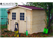 votre Abri Madriers bois massif d'épaisseur 28 mm et de  surface extérieure : 6,16 m2