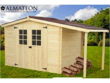 votre Abri Madriers bois massif de 9,49 m2 (abri +bûcher), d'épaisseur 28mm