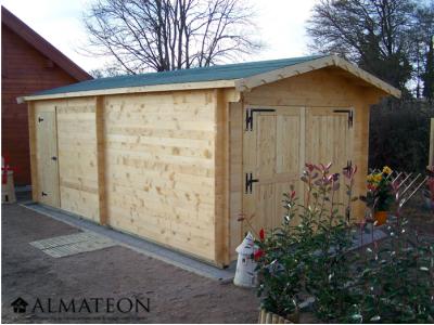 votre garage panneau en bois massif d'épaisseur 42mm de 24,23m2