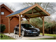 Promotion lancement WEB -200€ votre carport THURAC 10,80m2 en bois thermo chauffé toit double