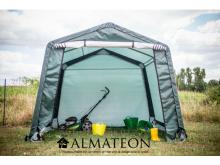 Abri en toile renforcée verte toit 2 pentes de 3,05x3,05 m:9,35m2