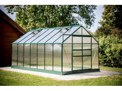 Serre jardin 10,37m2 structure aluminium couleur verte,SR 4224J