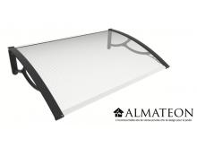 Vente Flash WEB votre marquise de porte et fenêtre 80 x 120 cm, polycarbonate alvéolaire