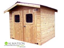 Abri THERMA de 7,42m2 toit double pente avec bois traité (thermo chauffé)