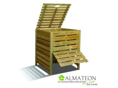 Composteur en bois avec trappe de 800L