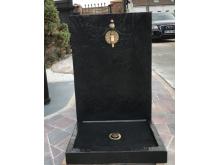 Cadeau NOËL votre fontaine luxe coloris noir vernis ALMATEON chic & design à personnaliser avec nos robinets et bonde d'évacuati