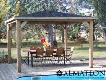 NOUVEAUTE votre pool House bluetherm structure en bois et toit en panneaux ACP 14,36m2