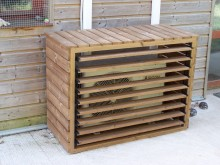 NOUVEAU votre cache Climatiseur extérieur en bois XL