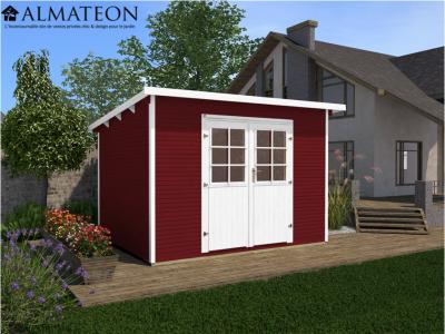 Abri de jardin de 8,8 m2, rouge, taille 3