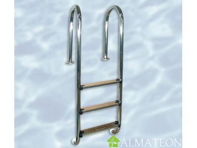 Echelle d'intérieure en acier inoxydable pour piscines