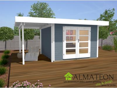 abri de jardin design et confort de 10m2 avec extension. Black Bedroom Furniture Sets. Home Design Ideas
