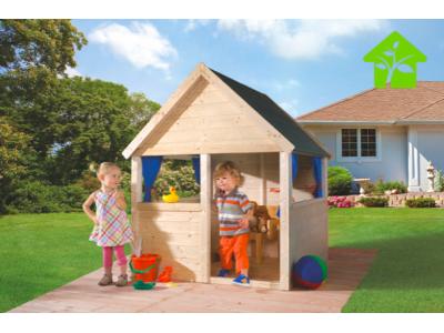 Maisonnette de jeu pour enfants en bois WEKA
