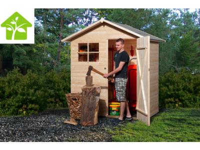 Remise à outils de 1,8 m2 sans plancher, brut, taille 1