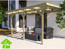 Pergola en bois de 9,6 m2 imprégnée autoclave, taille 3