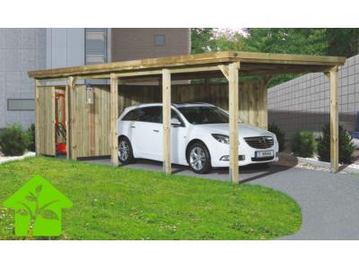Carport simple de 23 m2 pour voiture avec couverture de toit en PVC taille3