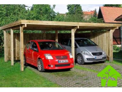 Carport double de 23 m2 pour voitures sans couverture de toit, taille 1