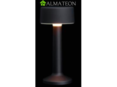 Offre PRO ECO avec 8 lampes de table à LED CYLINDRIQUE NOIR IMAGILIGHTS sans fil à chargement direct + plateau multicharge