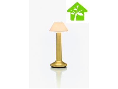 Offre PRO ECO avec 8 lampes de table à LED CONIQUE SABLE OR IMAGILIGHTS sans fil à chargement direct + plateau multicharge