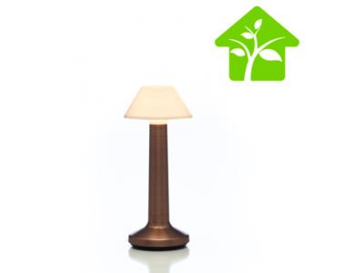 Offre PRO ECO avec 8 lampes de table à LED CONIQUE SABLE BRONZE IMAGILIGHTS sans fil à chargement direct + plateau multicharge
