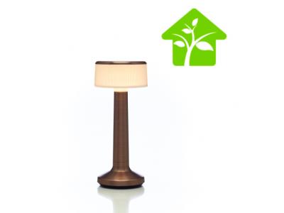 Offre PRO ECO avec 8 lampes de table à LED CYLINDRIQUE SABLE BRONZE IMAGILIGHTS sans fil à chargement direct + plateau multichar