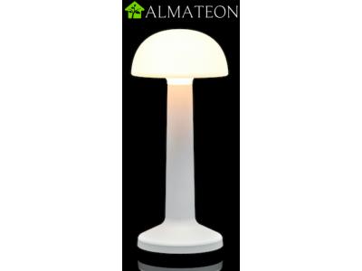 Offre PRO ECO avec 8 lampes de table à LED DOME SABLE BLANC IMAGILIGHTS sans fil à chargement direct + plateau multicharge