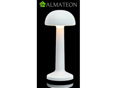 Offre PRO ECO avec 8 lampes de table à LED DOME BLANC IMAGILIGHTS sans fil à chargement direct + plateau multicharge