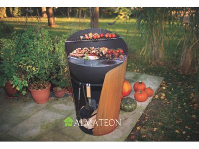 Vente flash printemps votre barbecue avec grill & plancha CRAMBE grand format L coloris rouille acier corten et acier noir of Hu