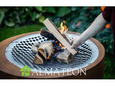 Nouveau FIRE PIT ARUNCUS grill format Large acier corten effet rouille HUUGY