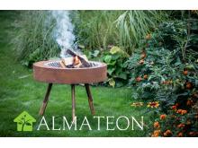 Nouveau FIRE PIT ARUNCUS grill format Médium acier corten effet rouille HUUGY