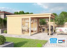 Vente flash fin de saison votre abri ou bureau télétravail de Jardin ultra moderne cubique Bois d'Épicéa Brut Domeo 2 (8,48M)