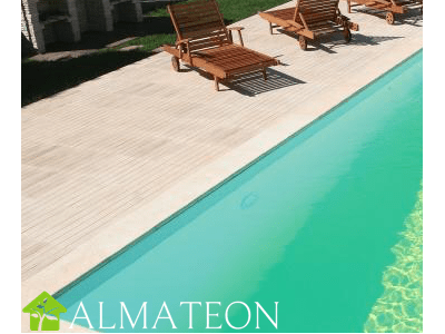 Liner coloris beige pour votre piscine rectangulaire LINEA 350 x 1550 cm