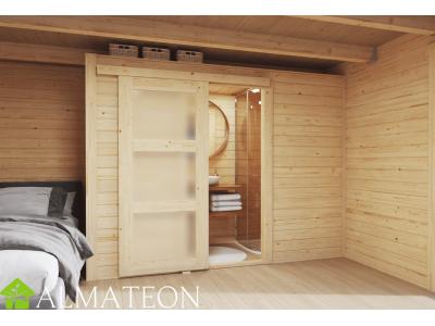 Pièce d'intérieur supplémentaire taille M pour abri bois de jardin ou bureau télétravail, dimensions 2,50 x 0,95 x 2,05 m