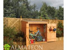 Abri à vélos en bois, coffre de rangement ou abri bûches de 1,50 m2, dimensions 183 x 83 x 164 cm ROWLINSON