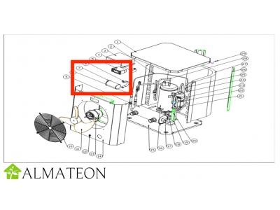 Condensateur de compresseur UBBINK pour pompe a chaleur piscine Heatermax Compact 20