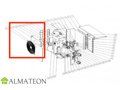 Pale de ventilateur UBBINK pour pompe a chaleur piscine Heatermax Inverter 20 ou Inverter 40