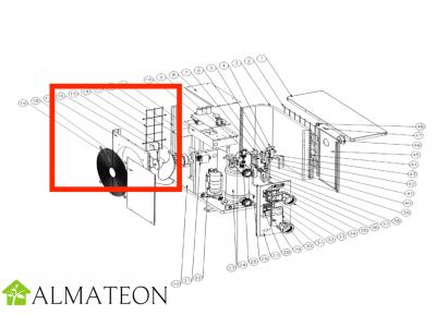 Moteur de ventilateur UBBINK pour pompe a chaleur piscine Heatermax Inverter 20 ou Inverter 40