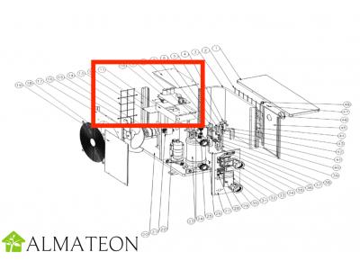 Condensateur de moteur de ventilateur UBBINK pour pompe a chaleur piscine Heatermax Inverter 20 ou Inverter 40