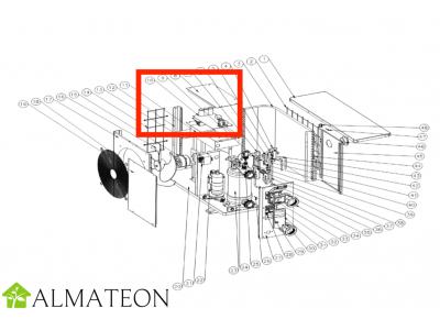 Circuit imprime UBBINK pour pompe a chaleur piscine Heatermax Inverter 20, Inverter 40 ou Inverter 70