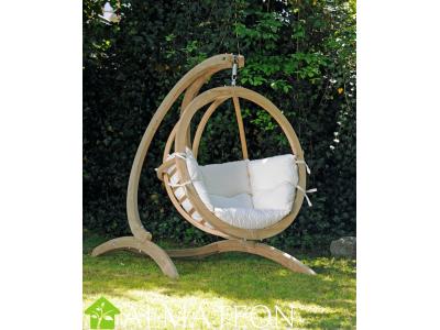 Globo Chair AMAZONAS fauteuil suspendu vendu avec support et fixations, coloris Natura, SPECIAL DRIVE